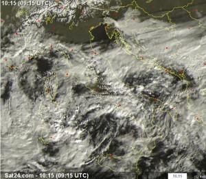 Immagini da satellite. Fonte Sat24.com